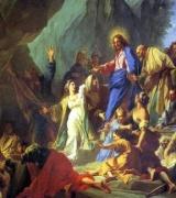 ЖУВЕНЕ ЖАН Воскресіння Лазаря,  1706.